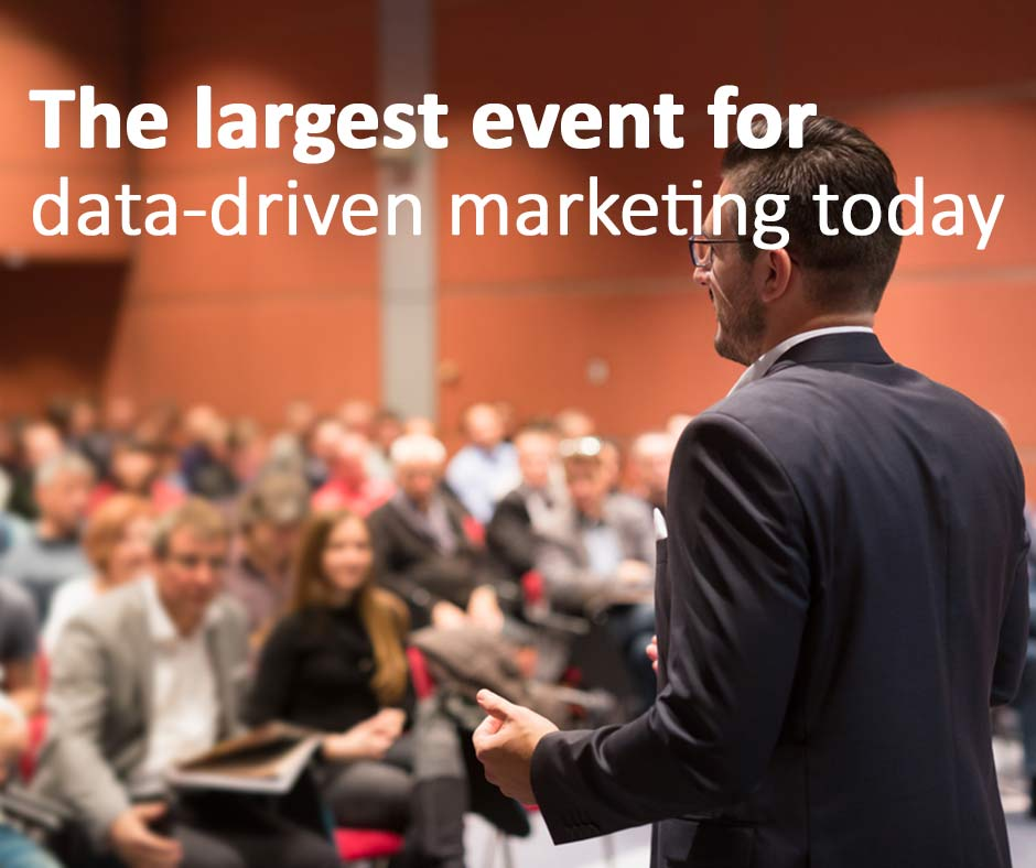 We are at DMA 2014. The largest event for data-driven marketing today