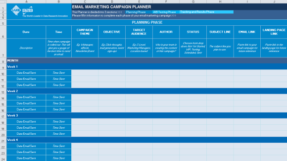 Email Marketing Campaign Planner_Planning Phase