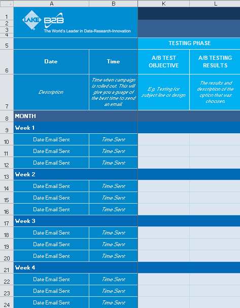 Email Marketing Campaign Planner_Testing Phase